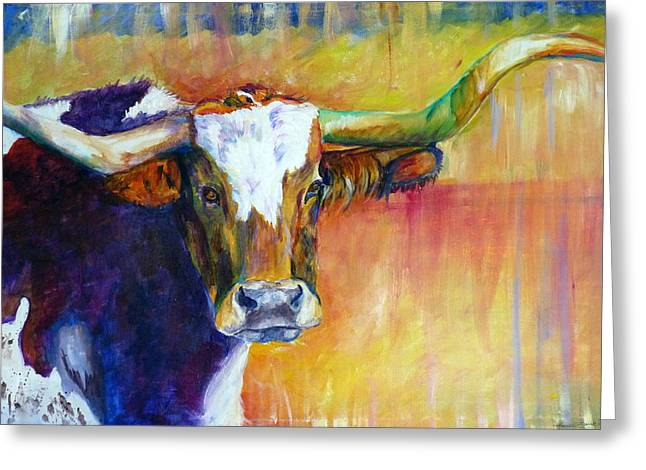The Montrose Longhorn Greeting Card by P Maure Bausch