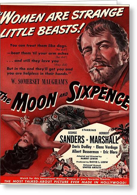 The Moon And Sixpence 1943 1940s Usa Greeting Card by The Advertising Archives