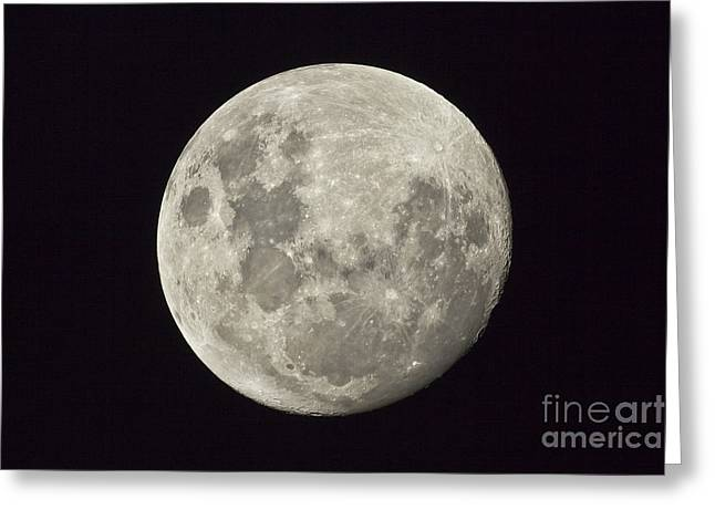 The Moon As Seen From The Southern Greeting Card by Philip Hart