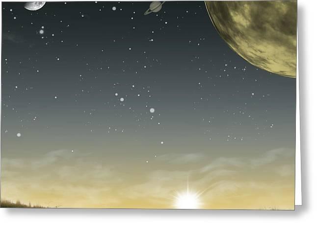 The Moon Lagoon Greeting Card