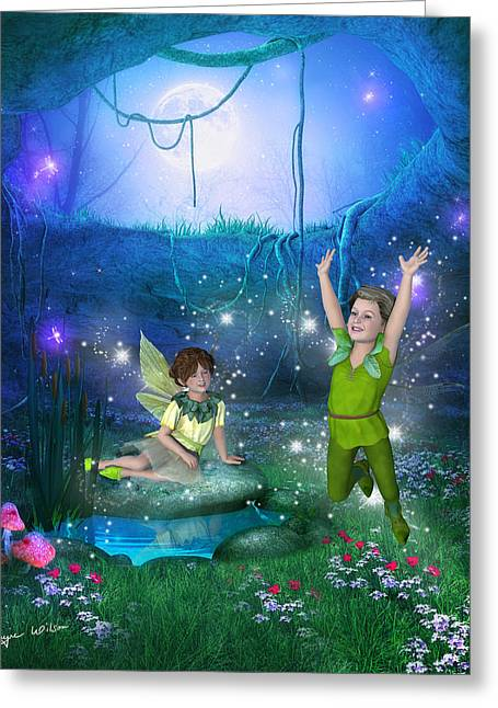 The Moonlight Fairies Greeting Card
