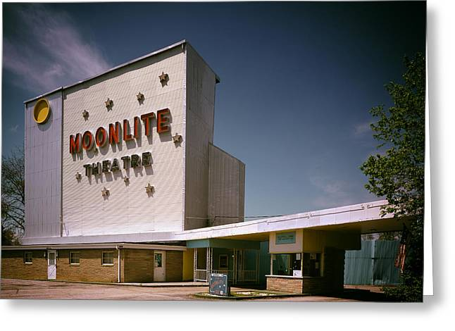 The Moonlite Drive In Theatre Greeting Card by Mountain Dreams