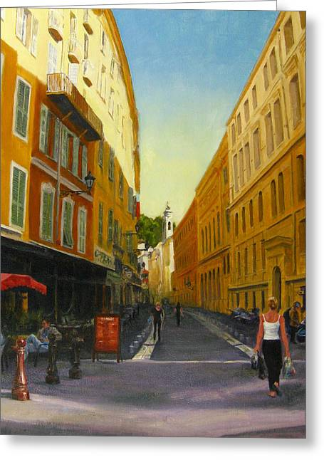 The Morning's Shopping In Vieux Nice Greeting Card