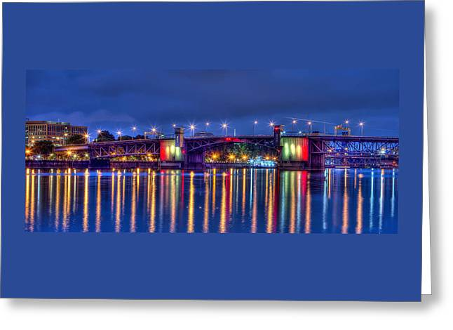 Greeting Card featuring the photograph Morrison Bridge - Pdx  by Thom Zehrfeld