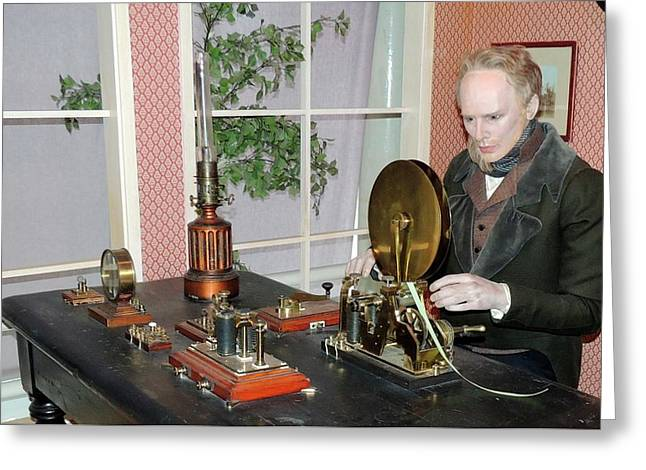 The Morse Telegraphic Apparatus Greeting Card by Universal History Archive/uig