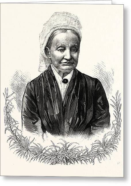 The Mother Of President-elect Garfield. Eliza Ballou Greeting Card by American School