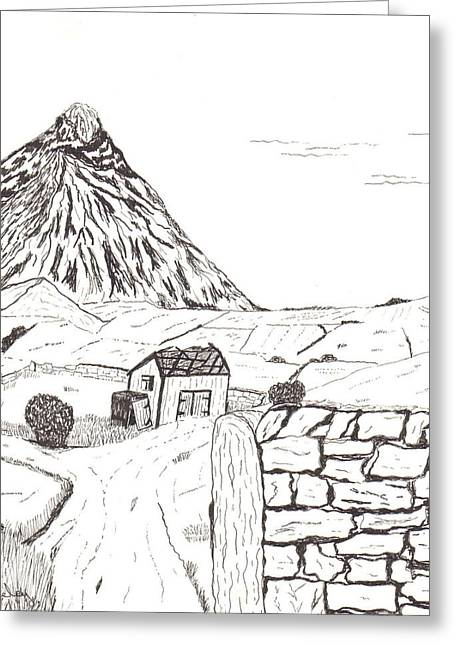 The Mountain Beyond The Fields Greeting Card