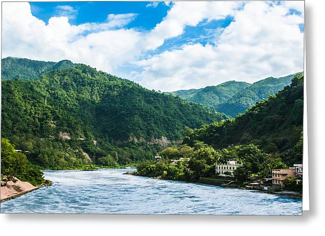 The Mountain Valley Of Rishikesh Greeting Card