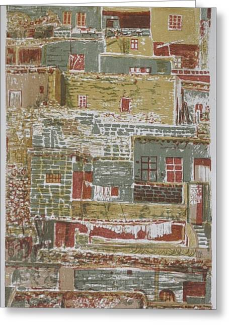 The Mountain Village Greeting Card