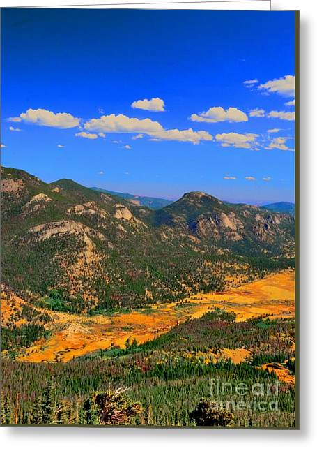 The Mountains Are Alive Greeting Card by Kathleen Struckle