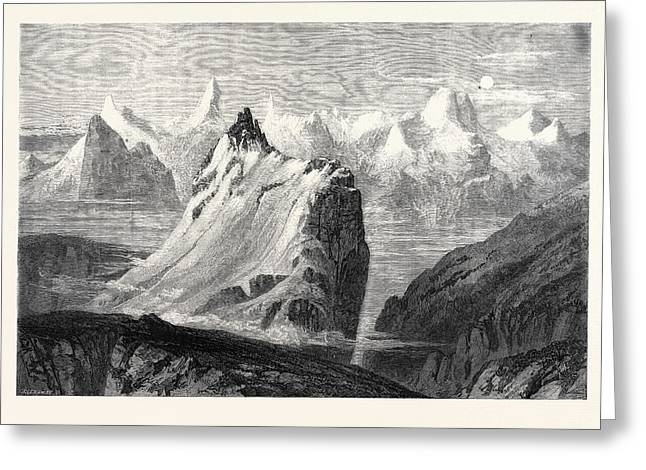 The Mountains Of The Oberland From The Faulhorn Greeting Card