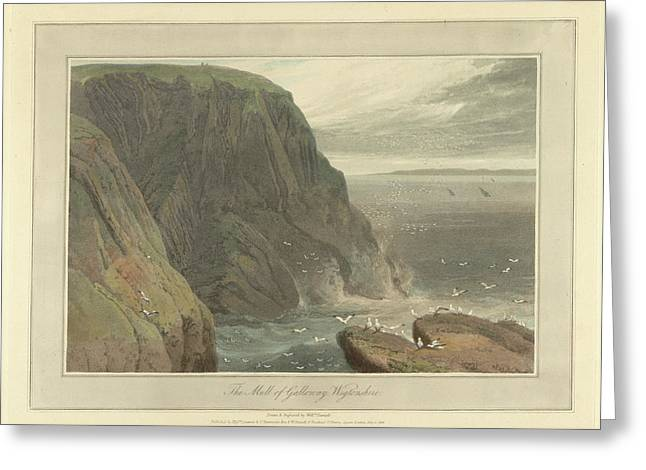 The Mull Of Galloway In Wigtonshire Greeting Card by British Library