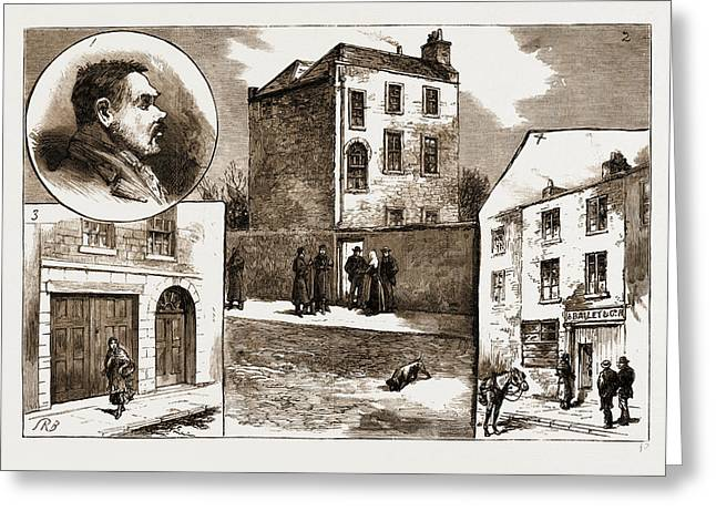 The Murder League In Dublin, Ireland, 1883 1. James Greeting Card