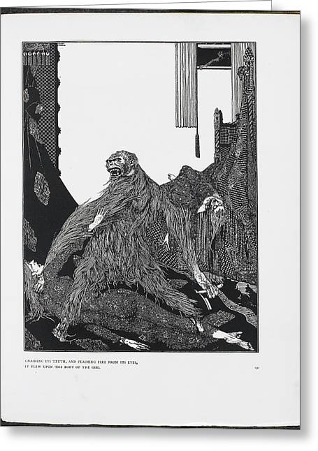 The Murders In The Rue Morgue Greeting Card by British Library