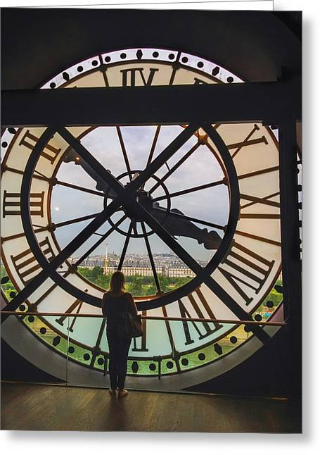 The Museum D'orsay Clock Greeting Card by Tim Stanley