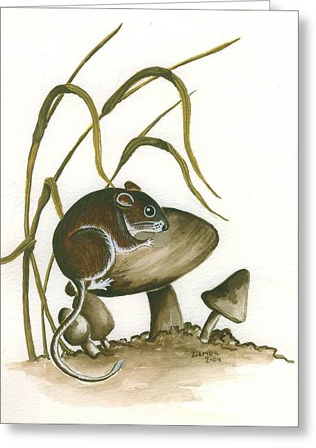 The Mushroom Mouse Greeting Card