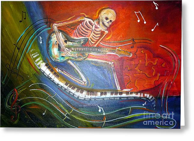 The Music Must Go On Greeting Card