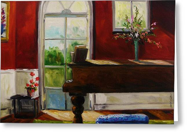 The Music Room Greeting Card by John Williams