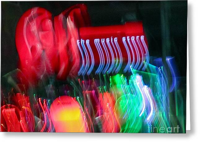 The Music Store Greeting Card by Tracey Levine