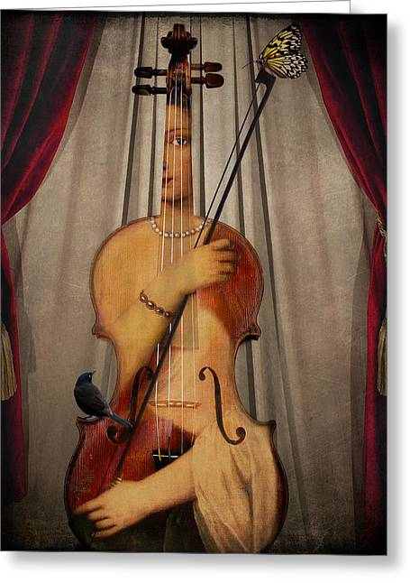 The Musician Greeting Card by Marie  Gale