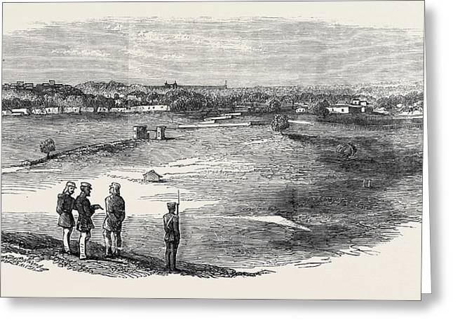 The Mutiny In India Subseemundee Delhi From The Mound Greeting Card