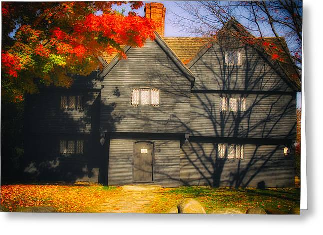 The Mysterious Witch House Of Salem Greeting Card by Jeff Folger