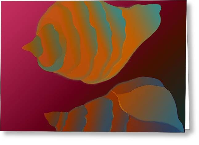 Greeting Card featuring the digital art The Mysterious World by Latha Gokuldas Panicker
