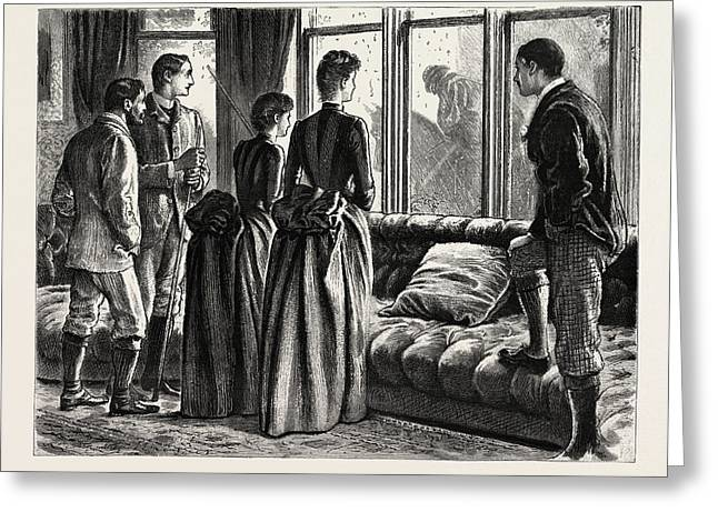 The Mystery, Interior Greeting Card by Du Maurier, George L. (1834-97), English