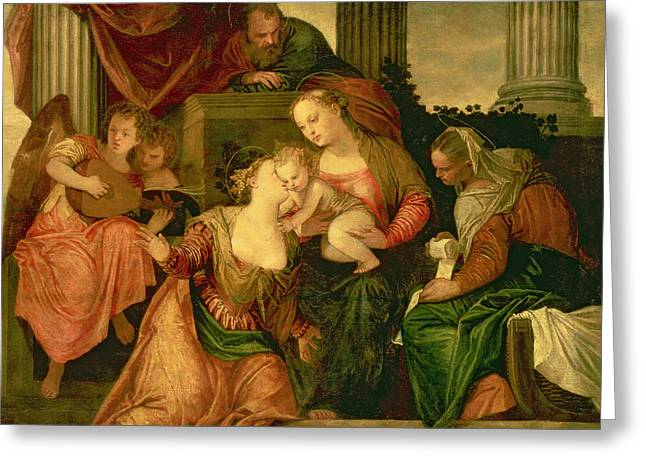 The Mystic Marriage Of Saint Catherine Greeting Card by Veronese