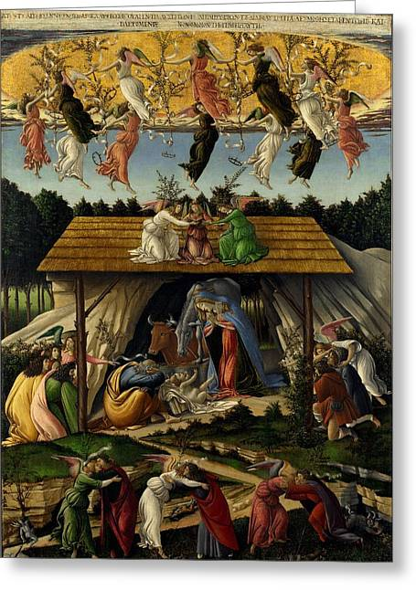 The Mystical Nativity Greeting Card by Sandro Botticelli