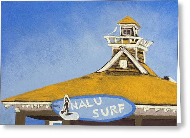 The Nalu Surf Shack Greeting Card by Cristel Mol-Dellepoort