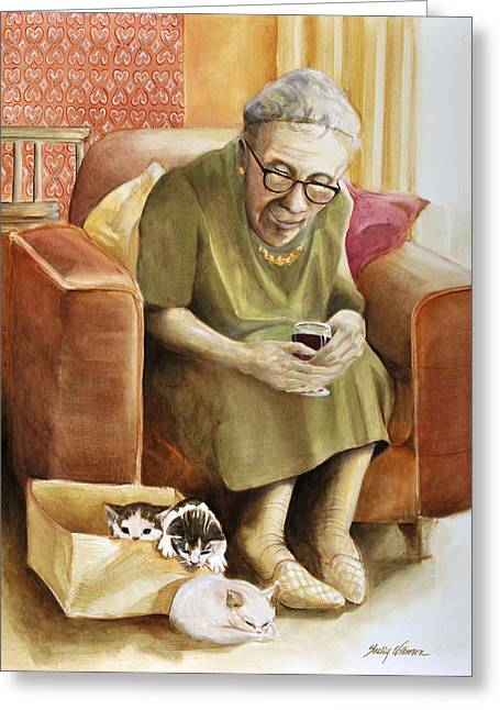 The Nanny Greeting Card by Shelly Wilkerson