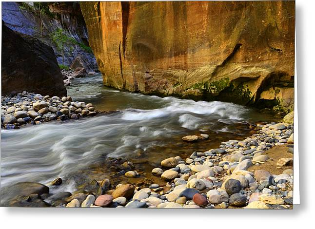 The Narrows Virgin River Zion 1 Greeting Card