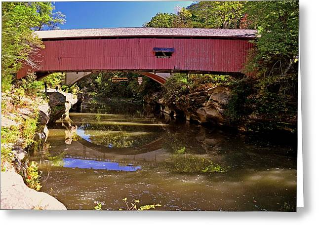 The Narrows Covered Bridge 1 Greeting Card by Marty Koch