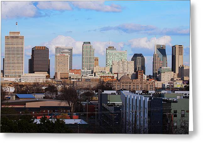 The Nashville Skyline As Viewed Greeting Card