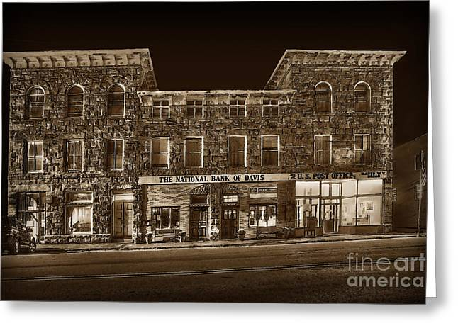 The National Bank Of Davis Wv Greeting Card by Dan Friend