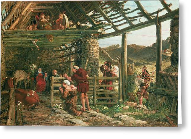 The Nativity, 1872 Greeting Card by William Bell Scott