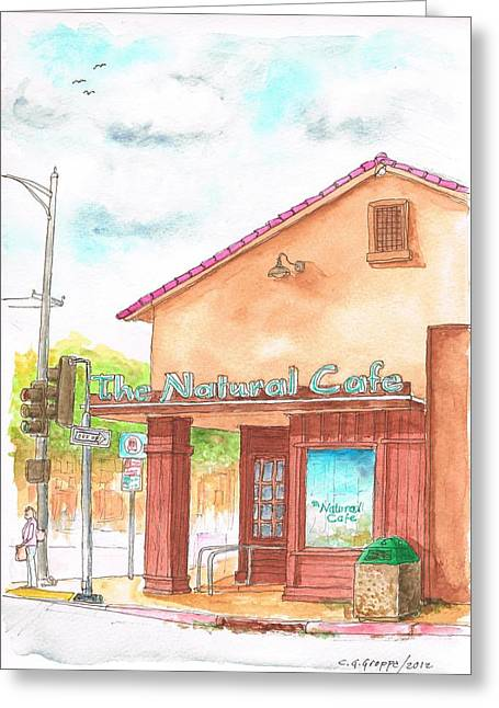 The Natural Cafe In San Luis Obispo, California Greeting Card by Carlos G Groppa