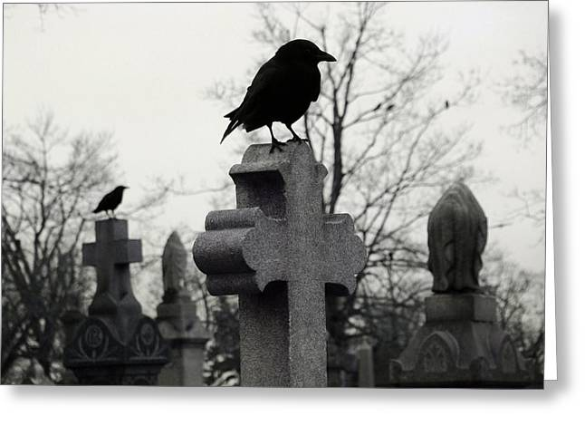 The Nature Of A Graveyard Greeting Card by Gothicrow Images