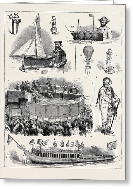 The Naval And Submarine Engineering Exhibition At Islington Greeting Card