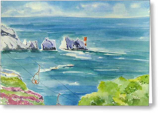 The Needles Isle Of Wight Greeting Card by Geeta Biswas