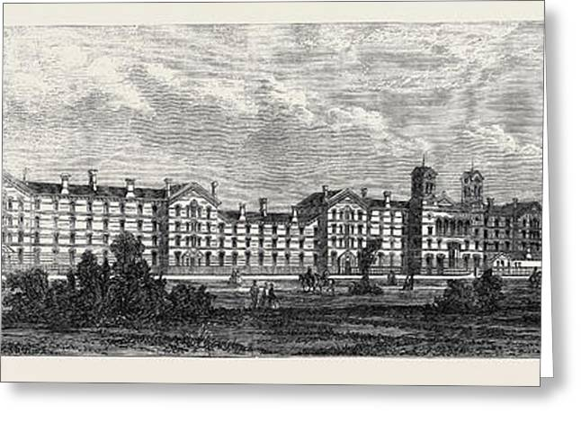 The New Barracks For The Guards At Chelsea December 21 1861 Greeting Card