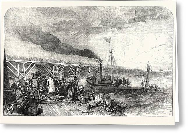 The New Holland Ferry On The Humber, Belonging Tothe Greeting Card by English School