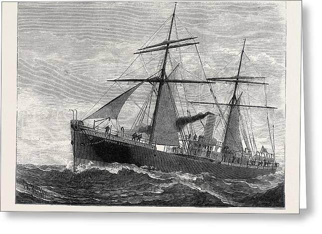 The New Indian Telegraph-ship Patrick Stewart 1879 Greeting Card