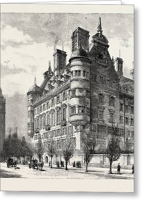 The New Police Offices On The Victoria Embankment Greeting Card