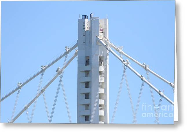 The New San Francisco Oakland Bay Bridge 7d25453 Greeting Card by Wingsdomain Art and Photography