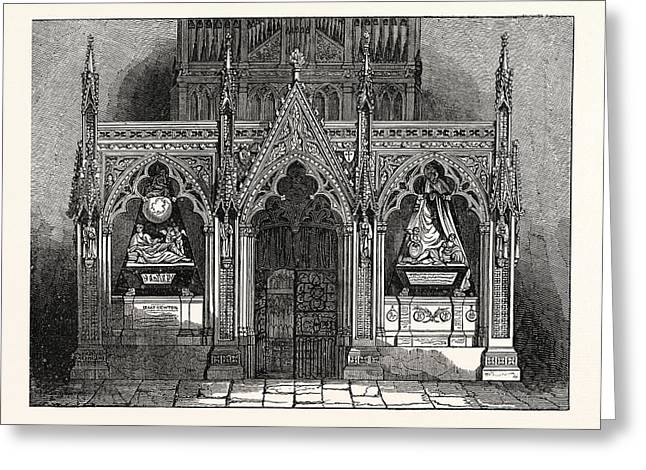The New Screen In Westminster Abbey, London, Uk, Britain Greeting Card by English School