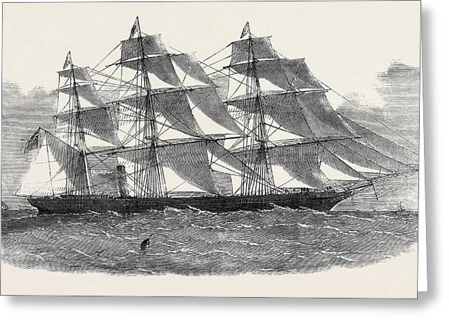 The New Screw Clipper Ship Khersonese Greeting Card