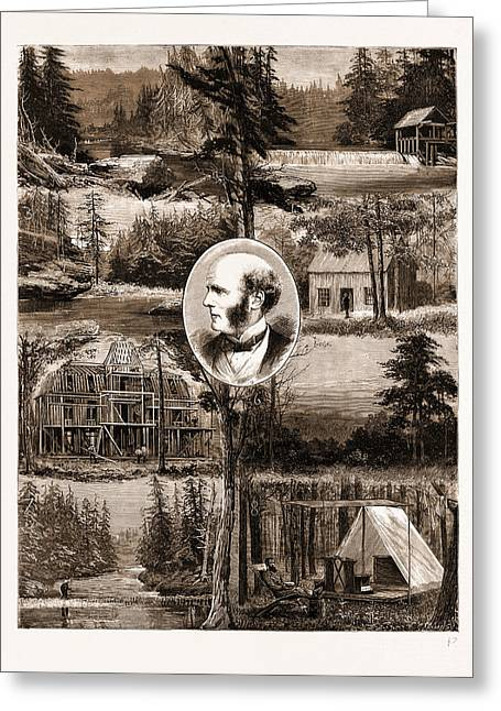 The New Settlement Of Rugby, Tennessee, U.s.a., U.s., Us Greeting Card by Litz Collection