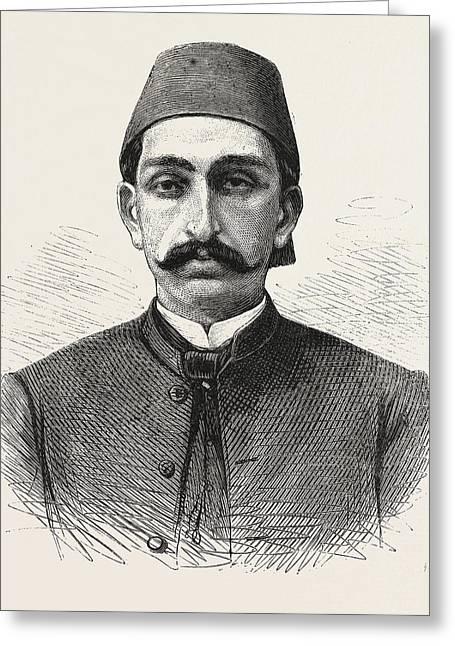 The New Sultan Of Turkey, Hamid II Greeting Card by Turkish School